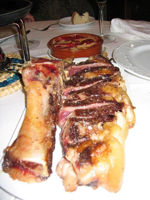Restaurante El Arandia de Julen Menudo chuletón!!