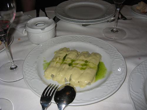 El Arandia de Julen en Atxuri - Bilbao Esparragos con mayonesa y salsa verde