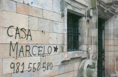 Restaurante en Santiago de Compostela Curiosa publicidad