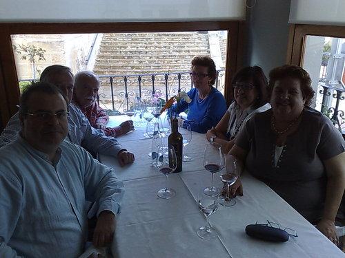 El Xato en La Nucia En la mesa, antes de los postres...