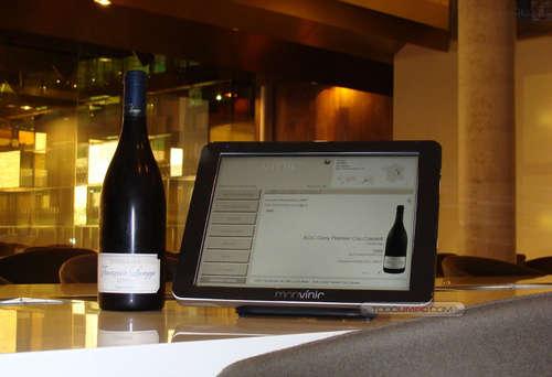Restaurante en Barcelona Carta de vinos digital... un puntazo. Más entretenida que la PSP.