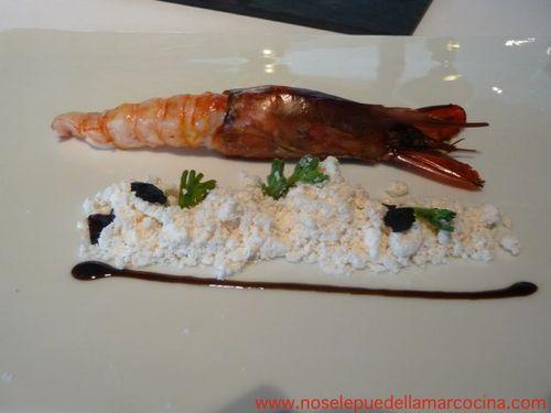 Restaurante El Celler de Can Roca Gamba, tierra de gamba y esencia de gamba