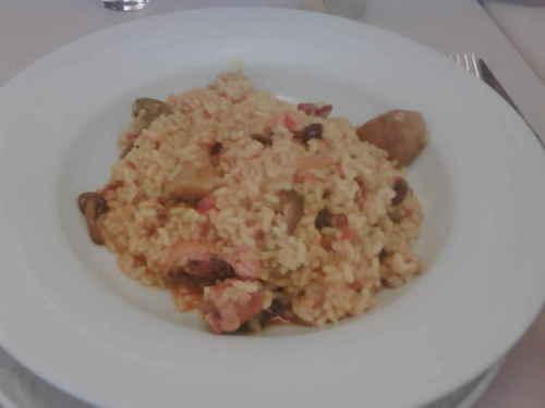 Restaurante Abadia d'Espí Arroz meloso de pato y setas .