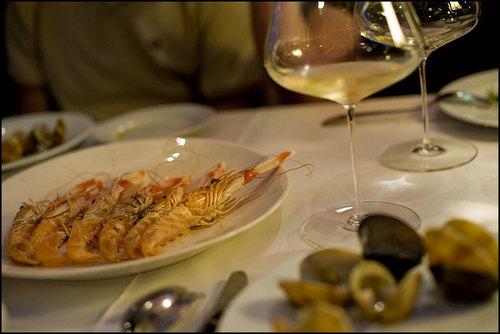 Villa Mas en San Feliu de Guixols Langostinos Restaurante Villa Mas