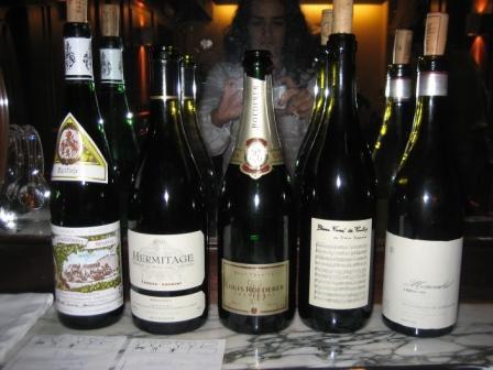 L'Escaleta Los vinos de la cena