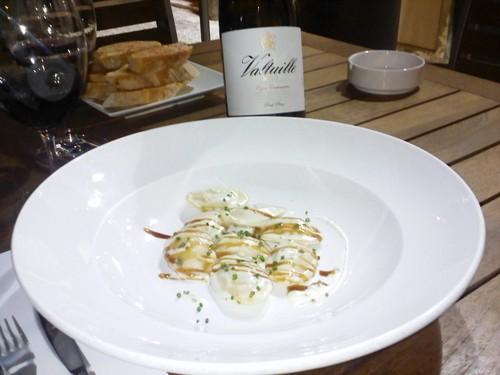 Restaurante La Taverna del Clínic Medias lunas de Foie