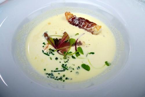 Restaurante en Valencia ajoblanco con cigala y tocino