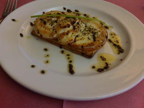 Restaurante La Muga Tosta de queso de cabra