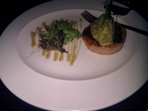 Restaurante Estación de Córdoba en Córdoba crujiente de Foie-gras con guacamole