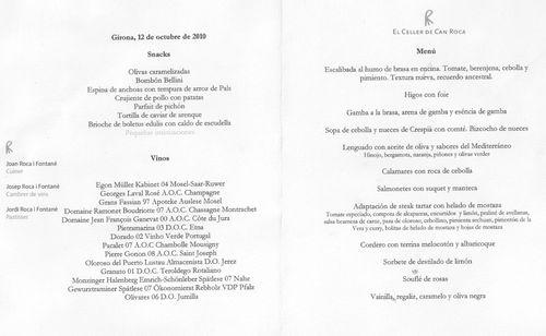Restaurante en Girona el menu festival y el maridaje