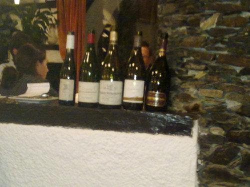 El Bulli (CERRADO) en Roses Vinos consumidos en la cena.