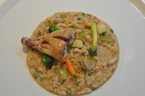 Restaurante en Barcelona Arroz meloso de pollo de corral