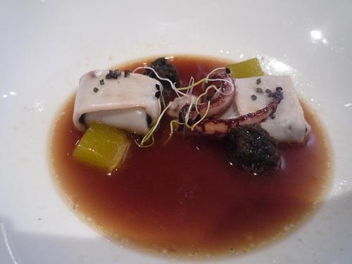 Restaurante en Bilbao sopa de chipiron, increíble lo rica que esta