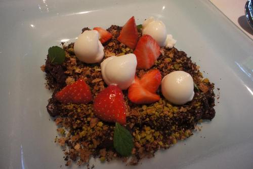 Restaurante Venta Moncalvillo sabroso postre