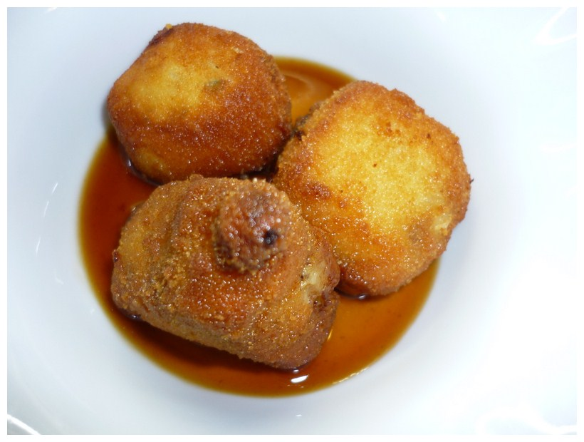 Restaurante A Tu Gusto croquetas de jamon y boletus