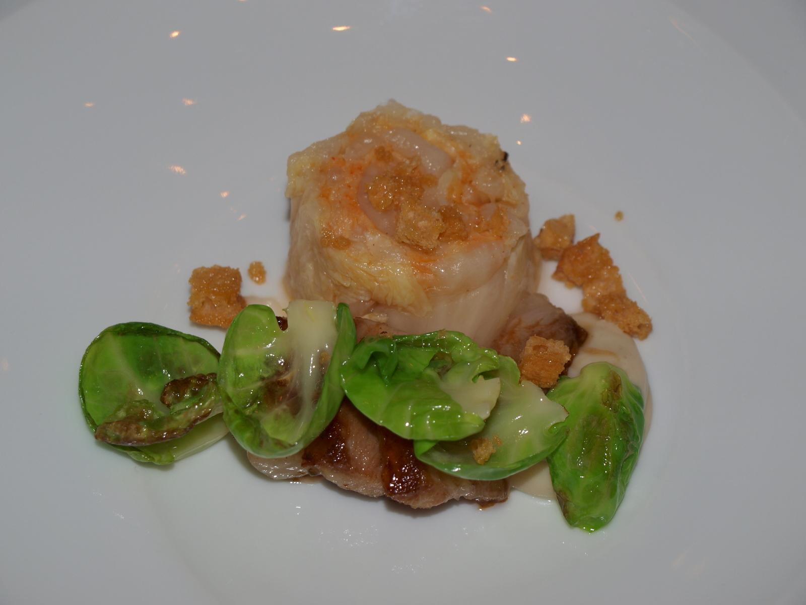 Restaurante ARC - Arrop Ricard Camarena (CERRADO) Papada de cerdo con col