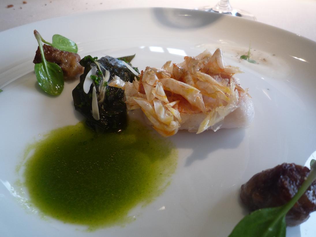 Restaurante Martín Berasategui Salmonetes con cristales de escamas ...
