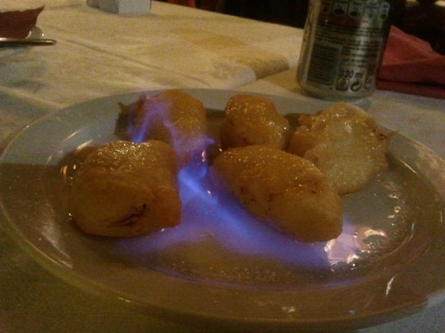 Restaurante Gran Muralla Girona plátano flameado