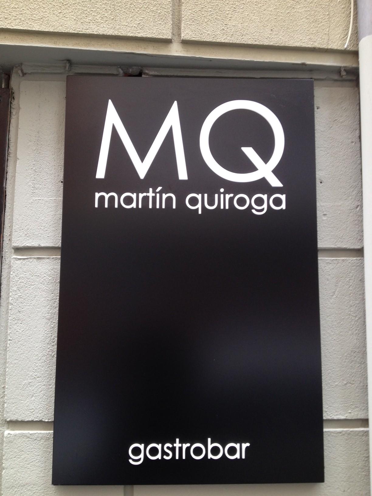 Martin Quiroga  en Valladolid Entrada del Restaurante