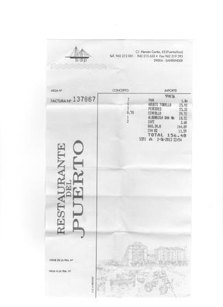 Restaurante Del Puerto en Santander