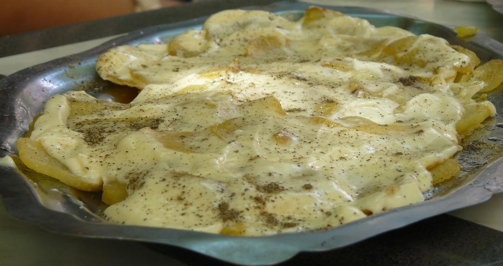 Bar El Sueño en L´Hospitalet de Llobregat Ración grande de patatas con allioli