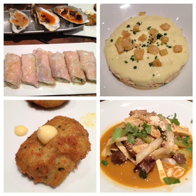 Restaurante Canalla Bistro Algunos de los platos del menú para compartir