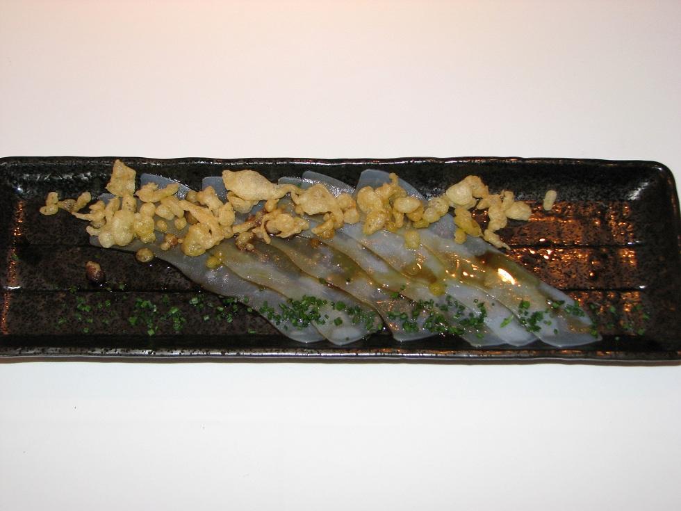 Restaurante en Ontinyent Usuzukuri de sepia
