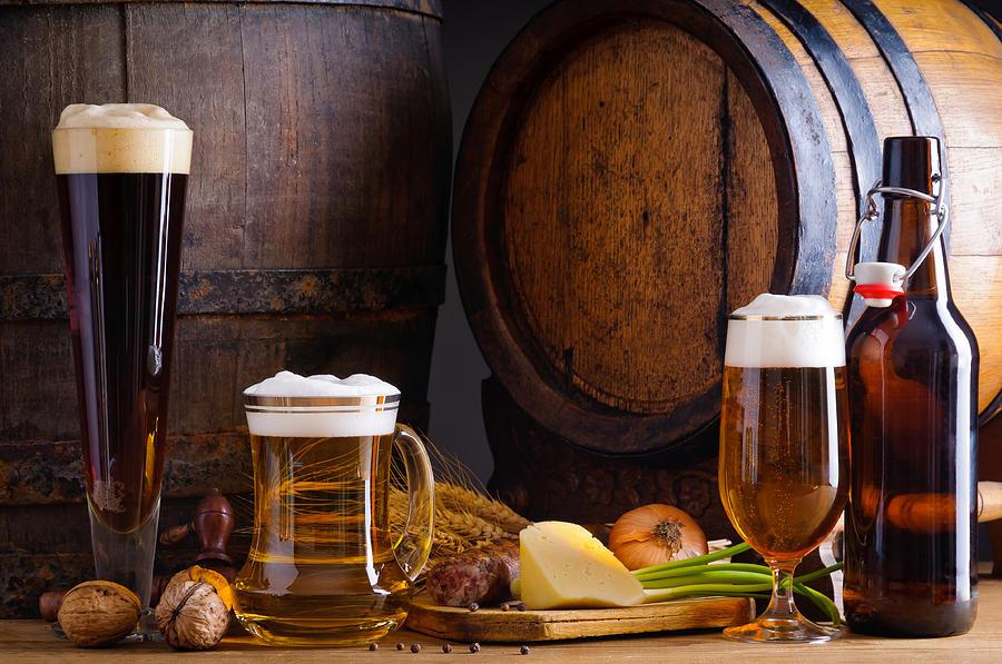 Cerveza e ingredientes calorias