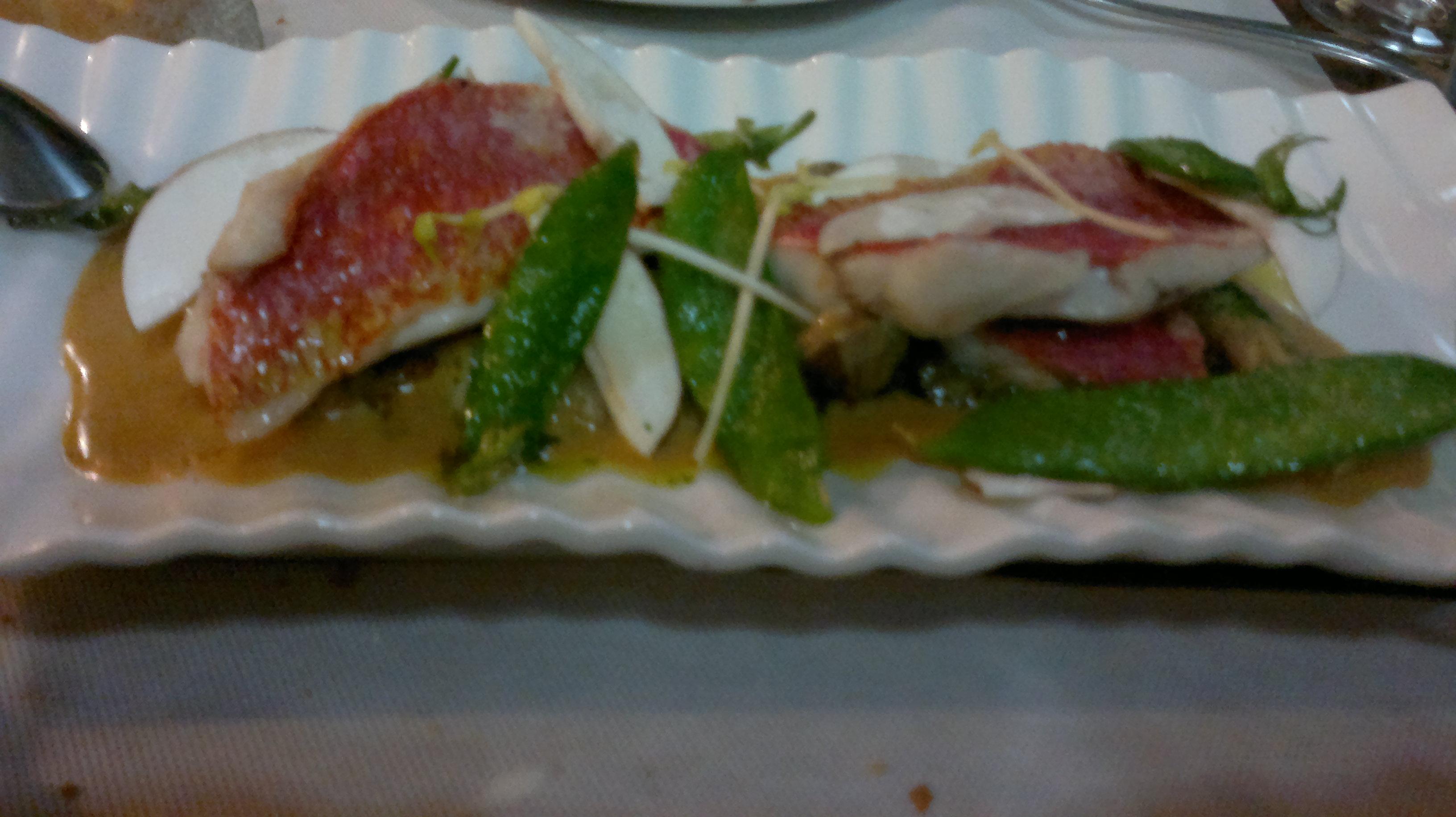 El baret de Miquel Ruiz-cuiners en Denia Mollets amb bolets (Salmonetes con setas)