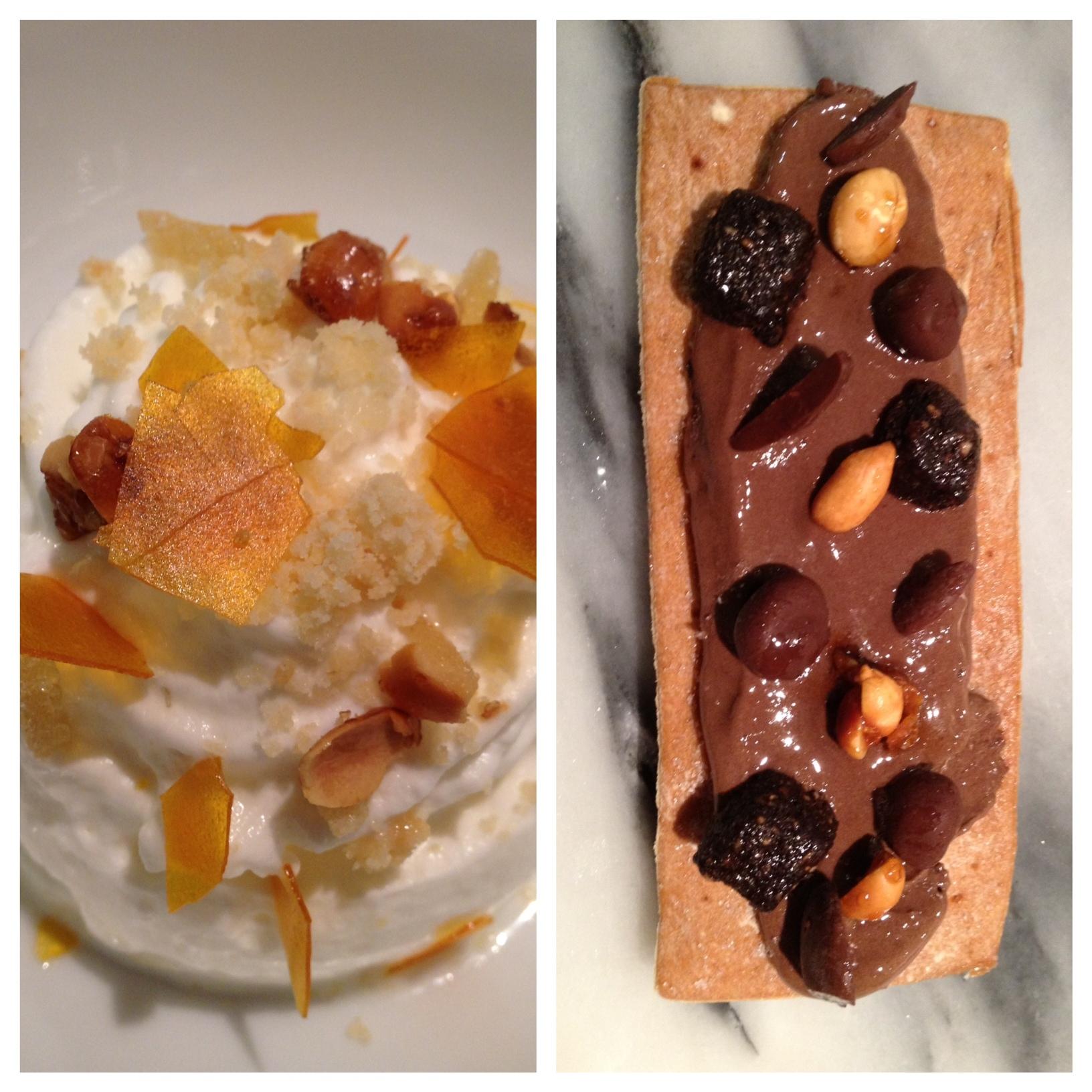 Ricard Camarena 1) Helado cremoso de calabaza 2) Cocha de chocolate