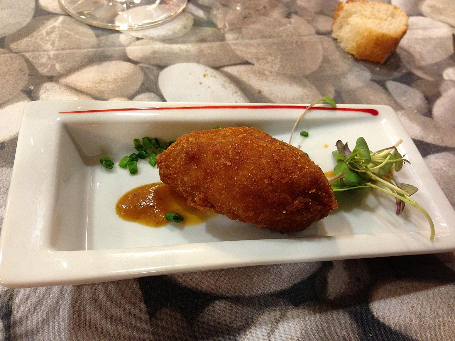 Restaurante en Valencia La rica croqueta, suerte que no sabía de qué era...