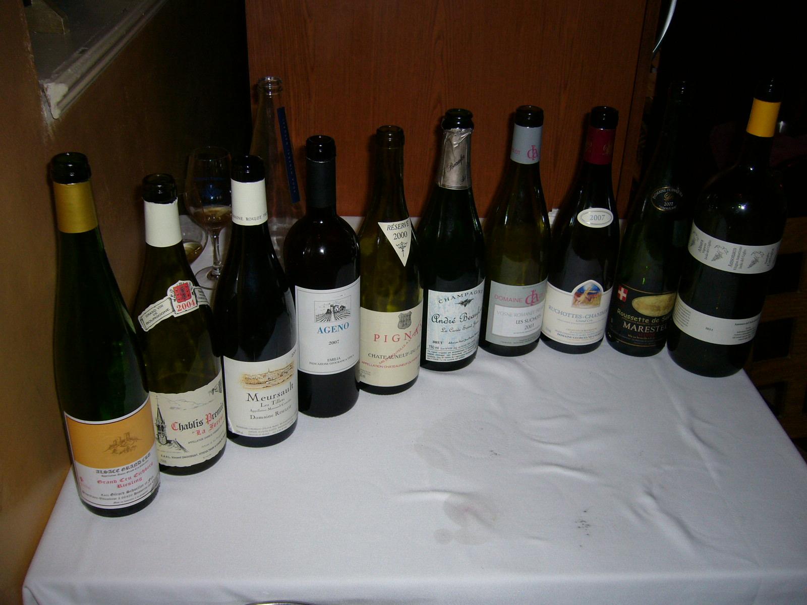 Restaurante en San Feliu de Guixols Los vinos del festín