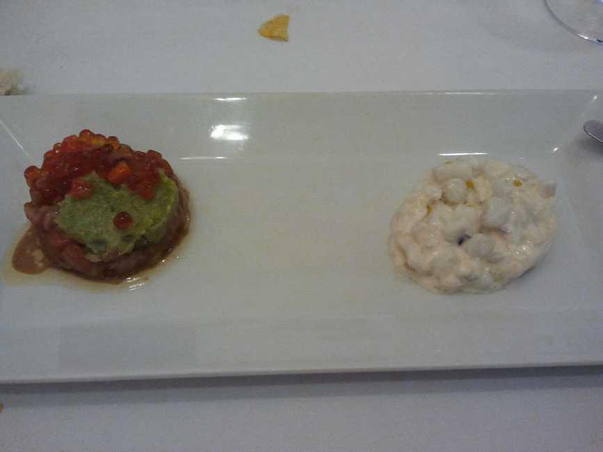 Restaurante Vins i més Tartar de salmón y de sepia