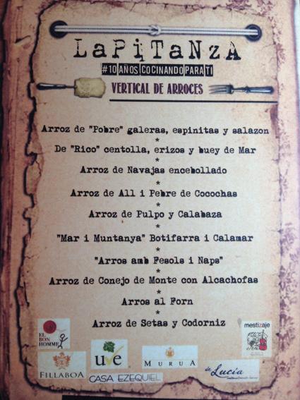Restaurante en Valencia Cata Vertical Arroces
