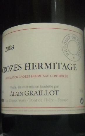 Crozes Hermitage Alain Graillot 2008
