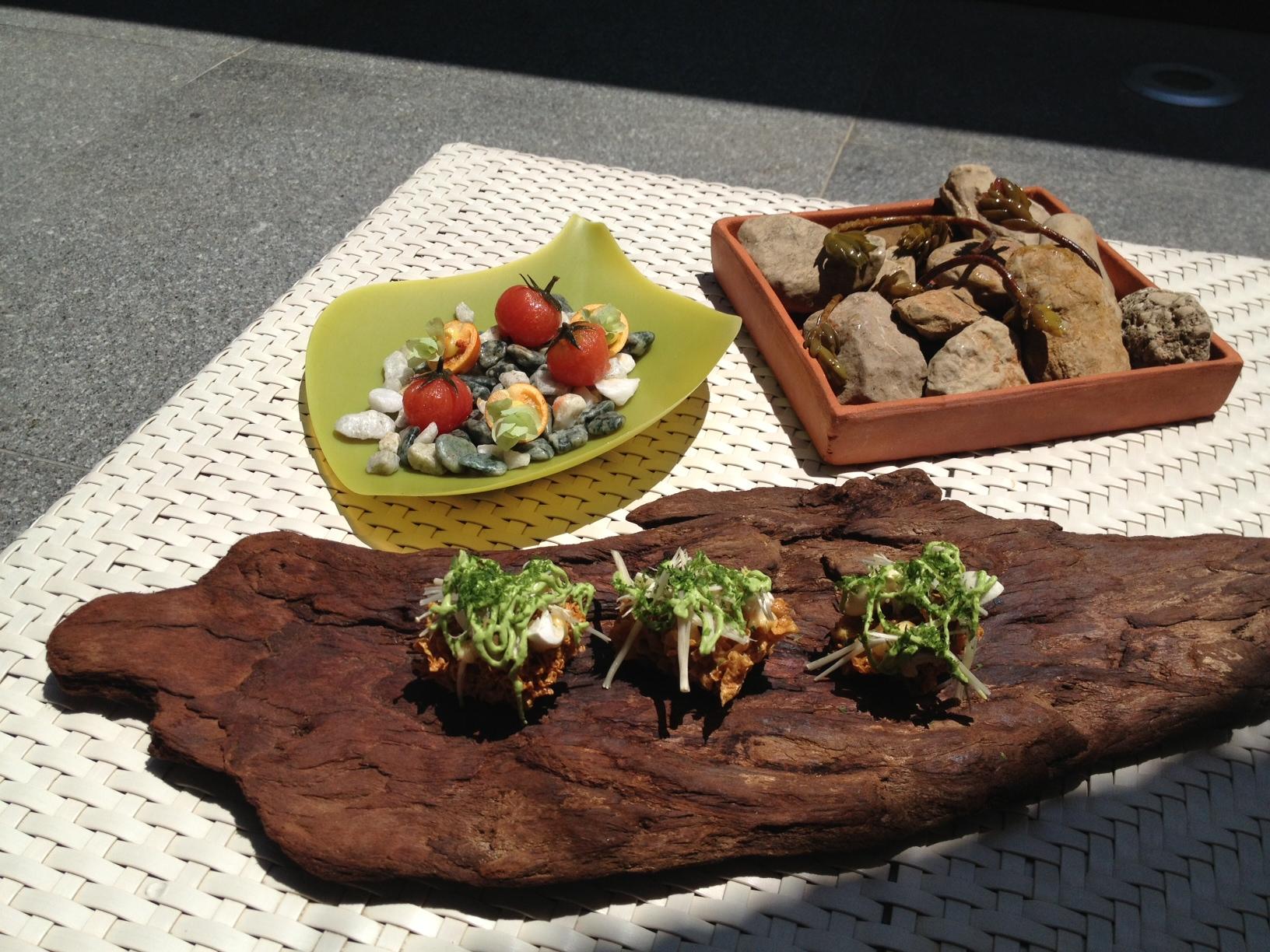Restaurante Quique Dacosta Raim de pastor, líquen y tomate encurtido