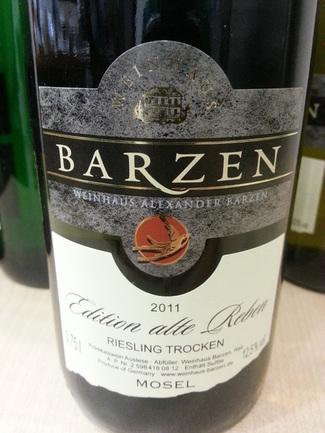 """Barzen """"Edition Alte Reben"""" Riesling Trocken 2011"""