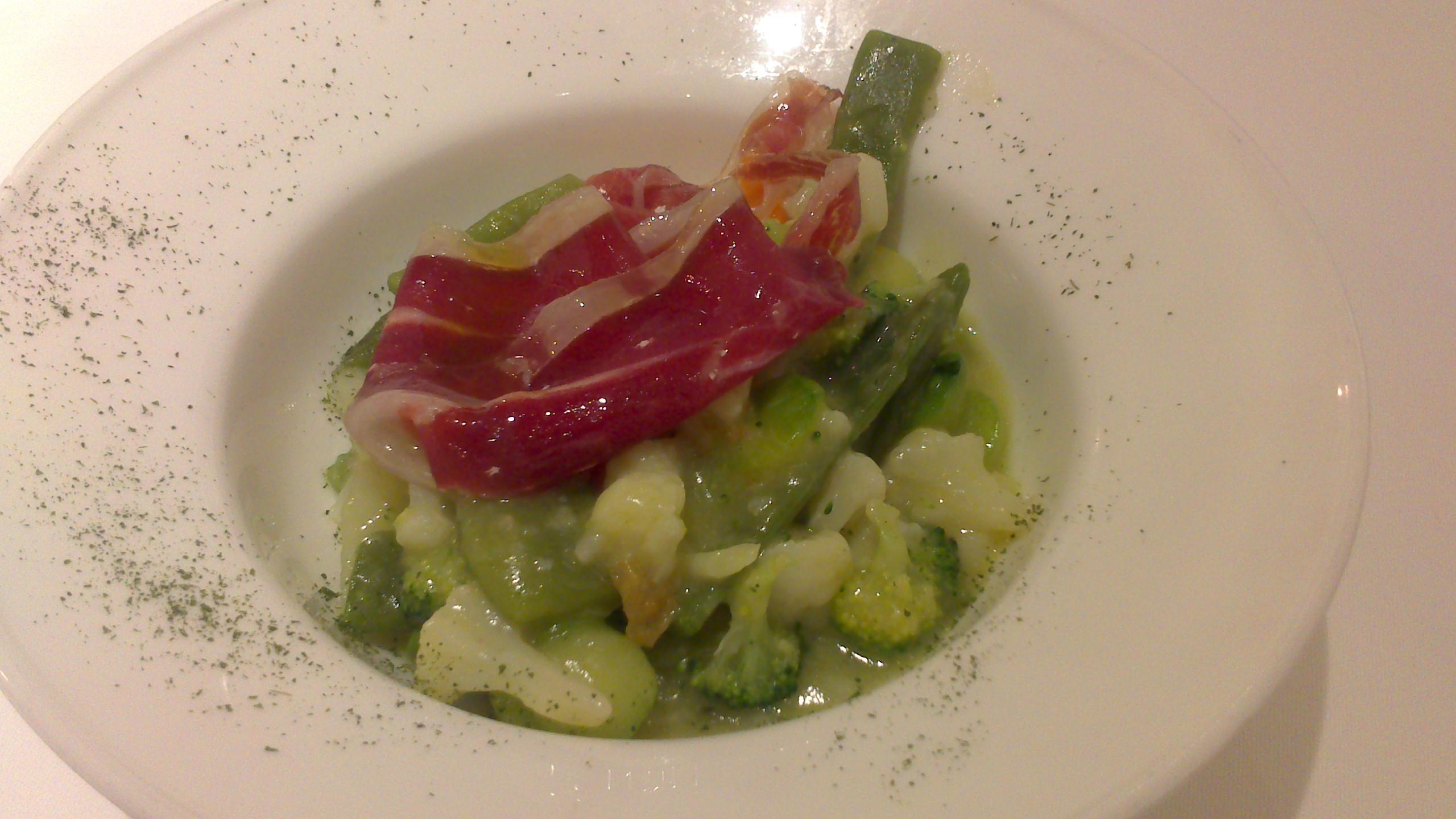 Restaurante Zapirain Mini verduras de temporada.
