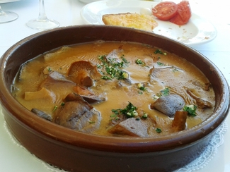 Media ración de Ternera con Setas del Restaurant Fussimanya de Tavernoles