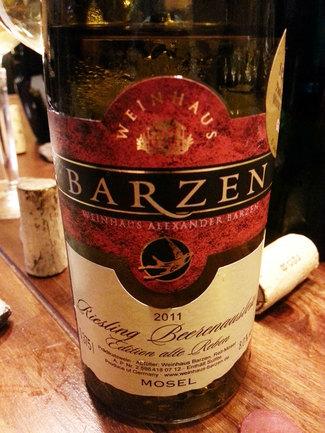 "Barzen ""Edition Alte Reben"" Beerenauslese 2011"
