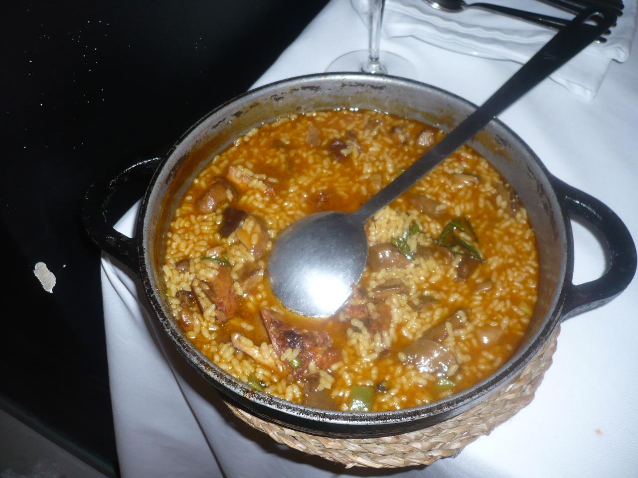 El Celler del Tossal en Valencia arroz de codorniz