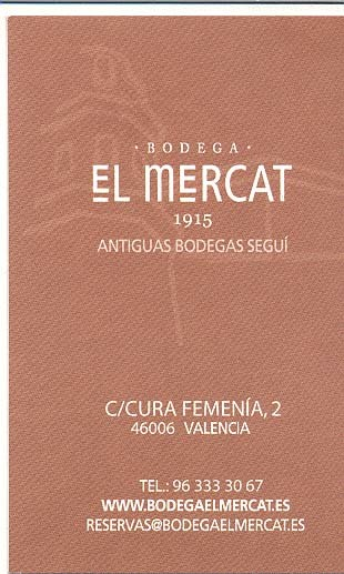Restaurante Bodega El Mercat en Valencia