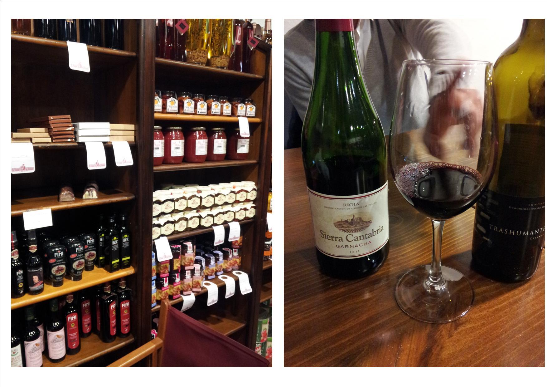 Restaurante El Veedor de Viandas Vista de la tienda y vinos