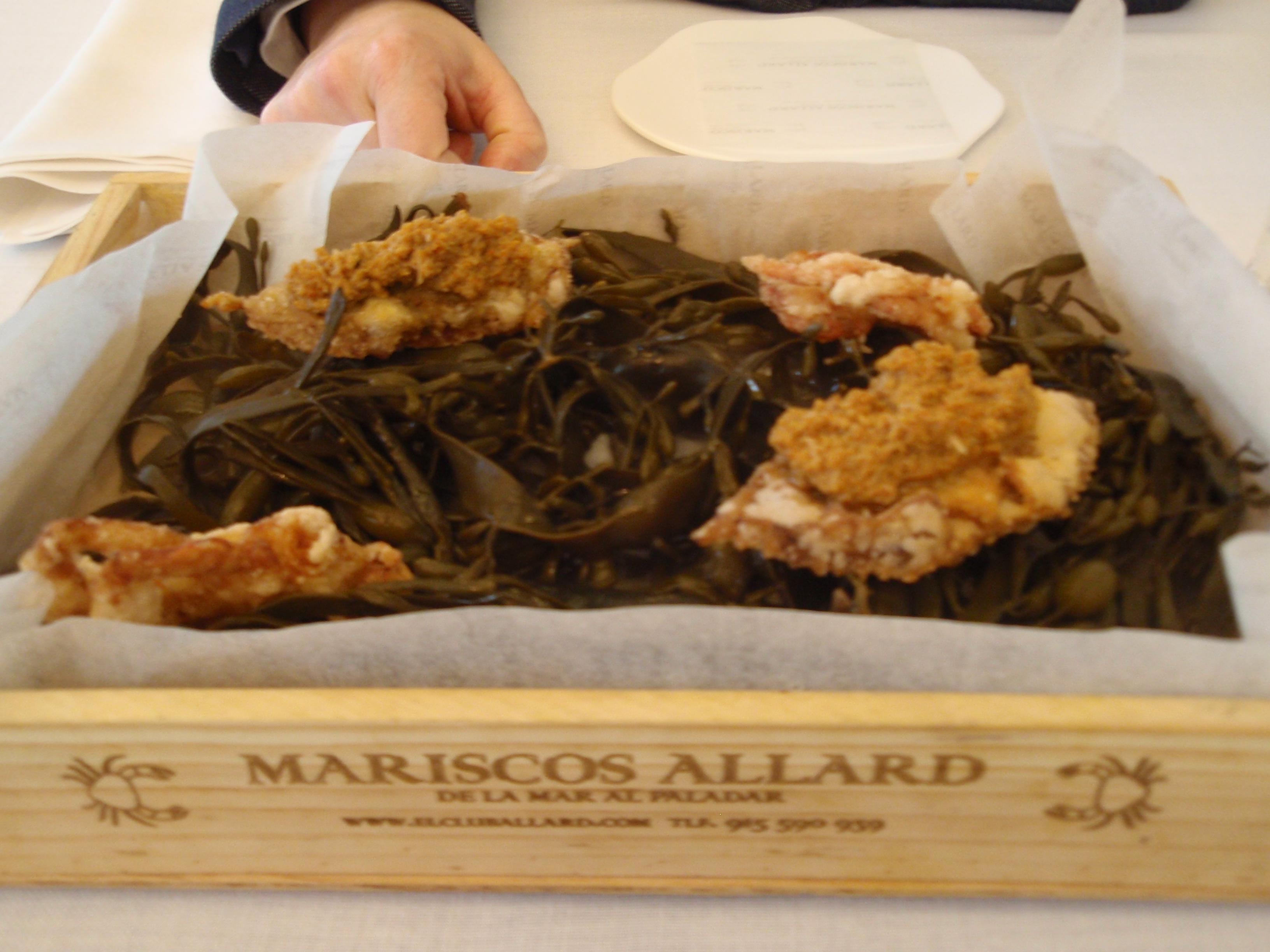 """Restaurante El Club Allard """"Txangurro"""" de cáscara blanda"""