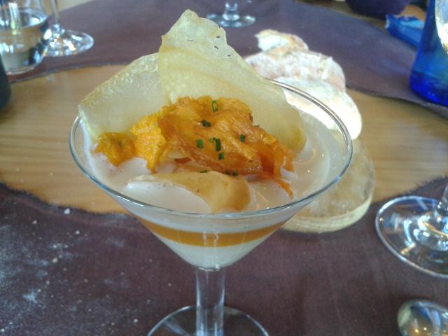 Restaurante Azurmendi Irlandés de patata, calabaza y queso