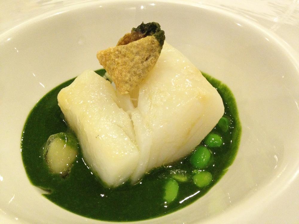 Restaurante en Valencia Allipebre de plancton con bacalao