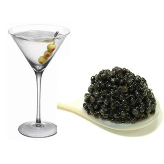 Dry martini con caviar logo