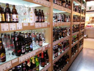 Puesto de cervezas Mercado Central de Valencia