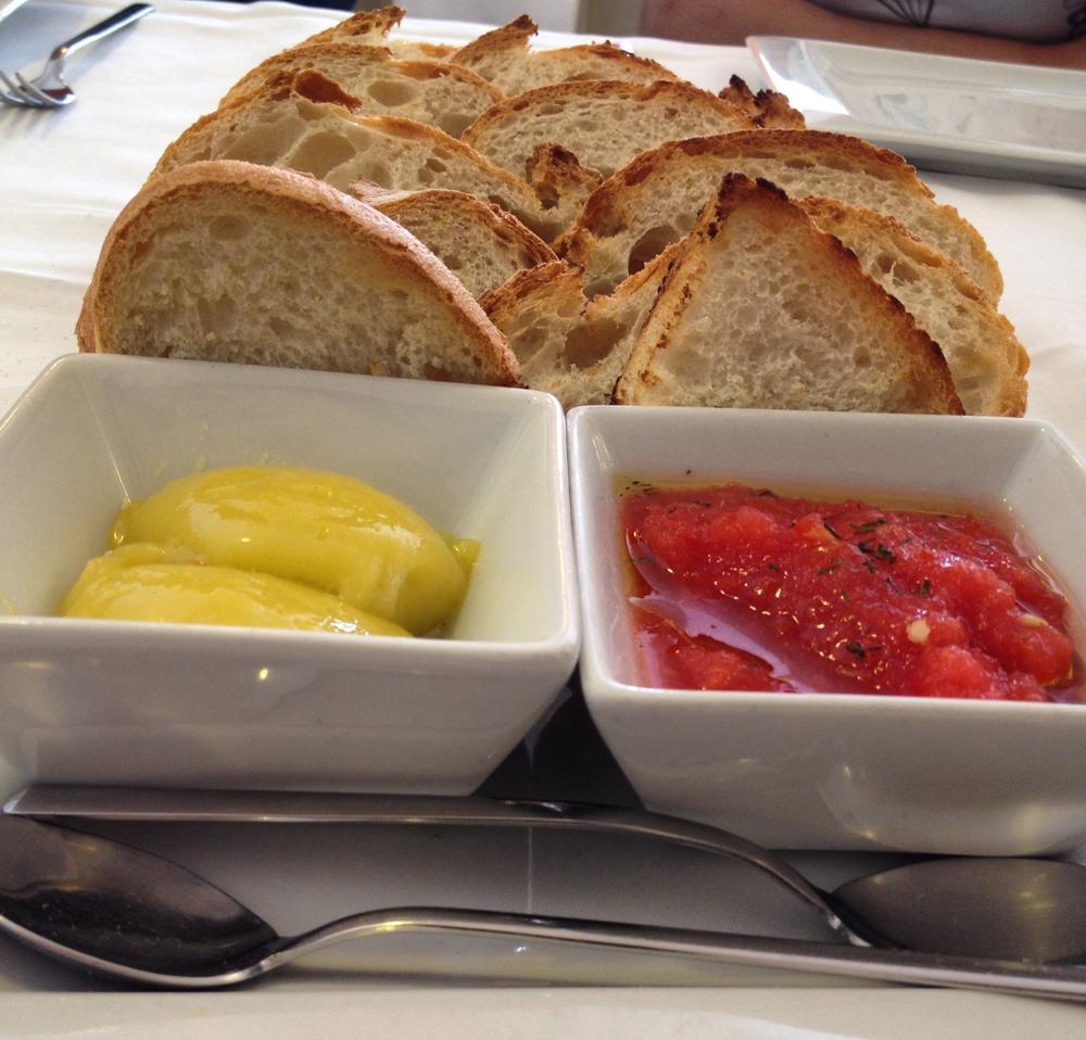 Mornell en El Palmar Pan, tomate y allioli
