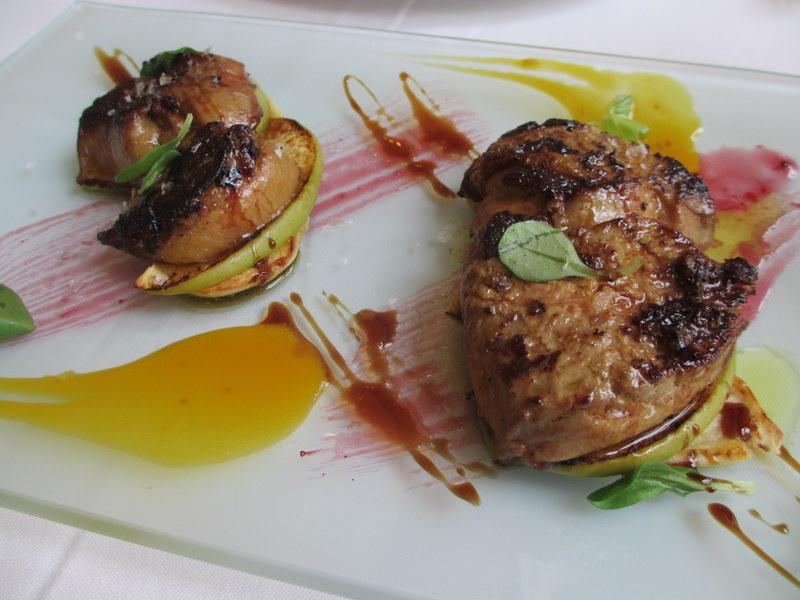 Restaurante de Ana en Valencia Foie Gras con manzana